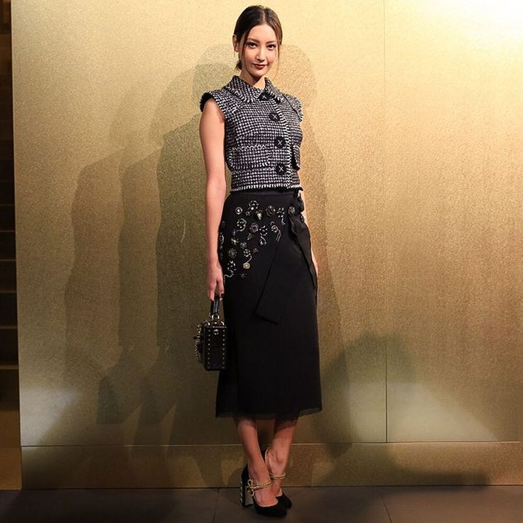 Beautiful Nanao attending the Dolce&Gabbana Aoyama boutique opening cocktail event. #DGLovesAoyama #DGLovesJapan #nanao