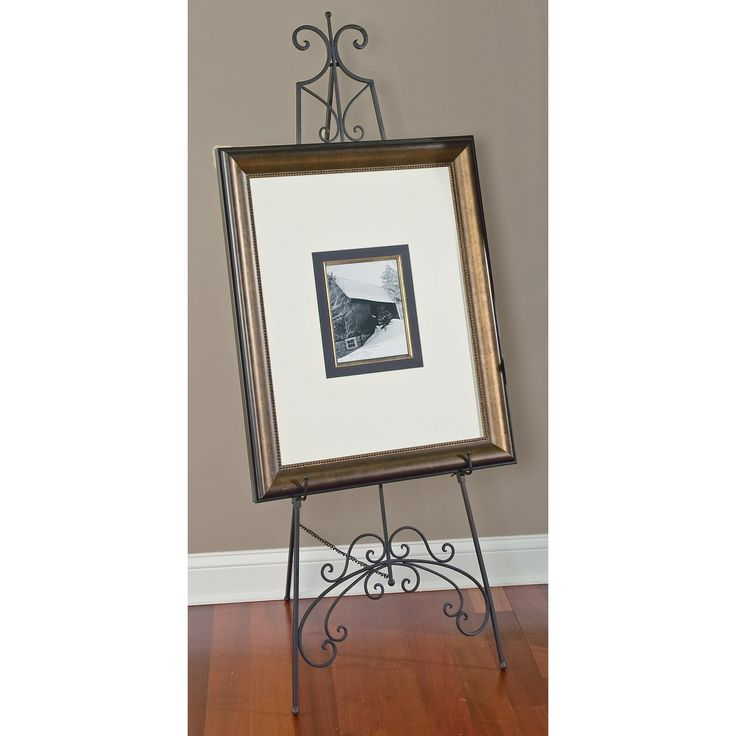 Tripar Black Metal Floor Easel The Stately Stands 65 Inches Tall And Is Adjule To Accommodate A Variety Of Sizes