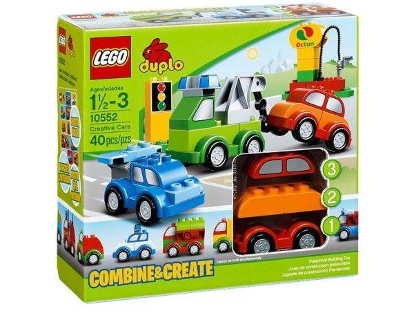 MASINI CREATIVE (10552)  Construieste vehicule super cu LEGO® DUPLO® Masini creative, caramizi ornamentate, motor special, macara, elemente de spoiler si mult mai multe !