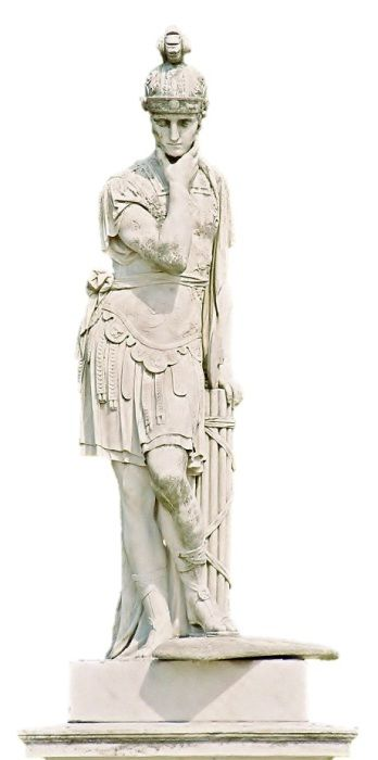 """Quintus Fabius Maximus Verrucosus Cunctator 280 BC – 203 BC) was a Roman politician and general, He was a Roman Consul five times and was twice appointed Dictator, He reached the office of Roman Censor in 230 BC. His agnomen Cunctator (cognate to the English noun cunctation) means """"lingerer"""" in Latin, and refers to his strategy in deploying troops during the Second Punic War. He is widely regarded as the father of guerilla war which was something new at the time."""