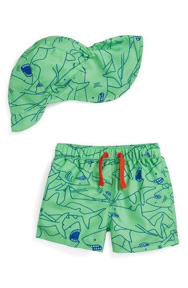 Tucker + Tate Swim Trunks & Hat (Baby Boys)