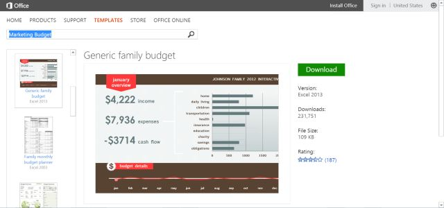 Microsoft's Best Free Personal Finance and Budget Templates: Simple Family Budget Template for Microsoft Excel
