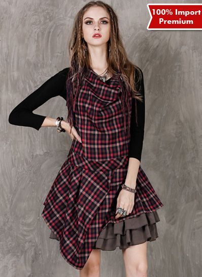 Dress Import Premium Lattice 598PR  | shopasista.com | Distributor baju import | distributor baju korea | grosir baju korea | grosir baju import | supplier baju korea tangan pertama | importir baju korea
