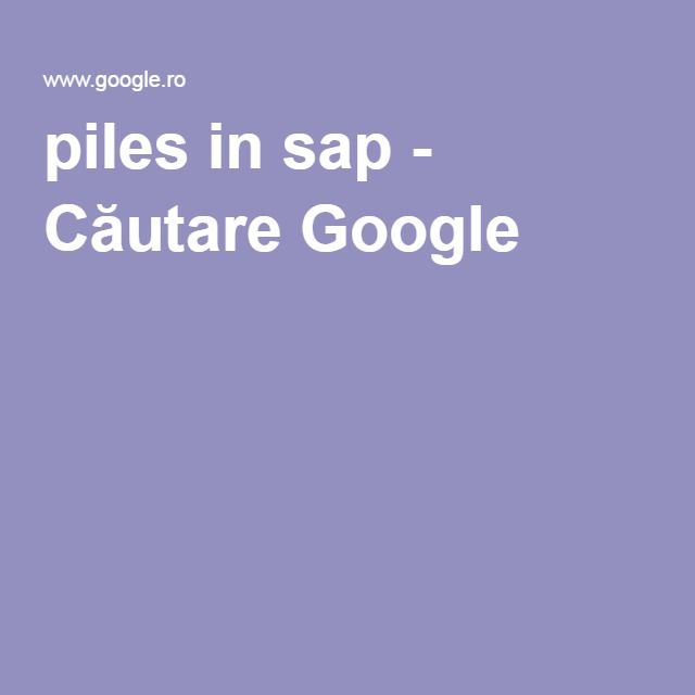 piles in sap - Căutare Google