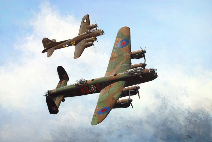 Avro Lancaster and Boeing Flying Fortress B-17 Sally B