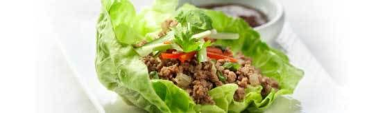 Korean Beef in Lettuce Cups offers a flavorful dish all of your Super Bowl party guests will love #SuperBowl #LoveCDNBeef #SB48