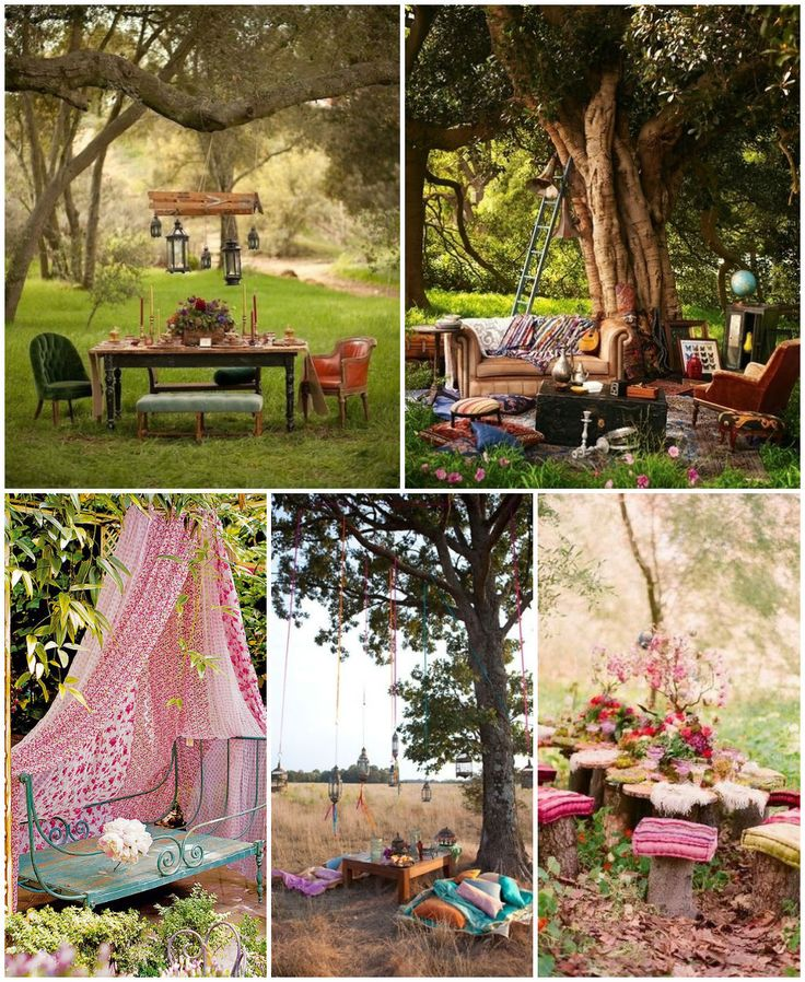 14 Bohemian style gardens - I've been dying to do some sort of elaborate set up for tea party mini sessions