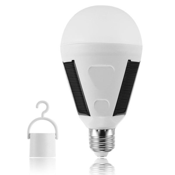 Solar Panel Powered Led Bulb 7w Emergency Energy Saving Light