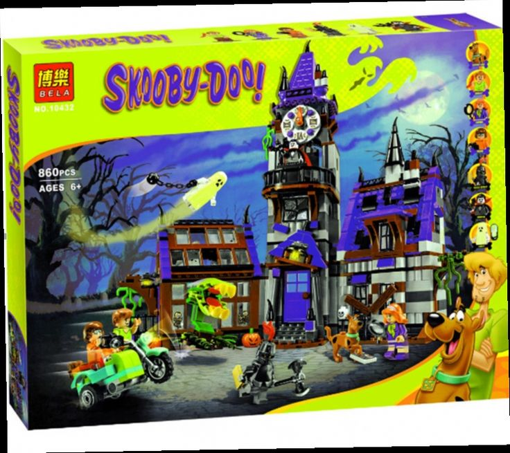 46.66$  Buy here - http://alitdr.worldwells.pw/go.php?t=32610841584 - Scooby Doo Mysterious Ghost House Minifigures Building Block Minifigure Toys Compatible With LXgo