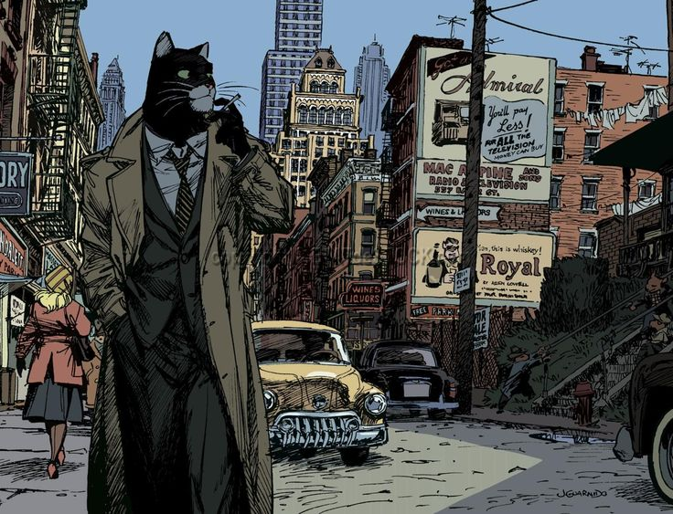 GUARNIDO . Affiche - BLACKSAD New York»