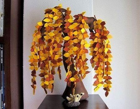Copaci handmade din pasla 10