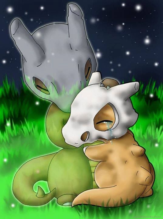 Cubone and it's mother together again