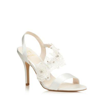 No. 1 Jenny Packham Designer ivory lace detail heeled sandals- at Debenhams.com
