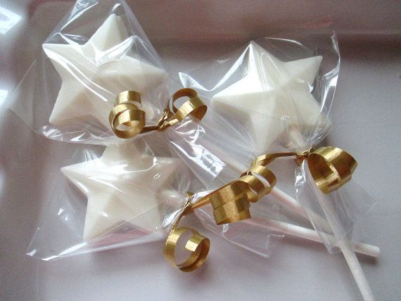 12 Chocolate Star Lollipops star shaped favors by MayflowerMarket