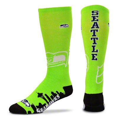 Seattle Seahawks Skyline Crew Socks