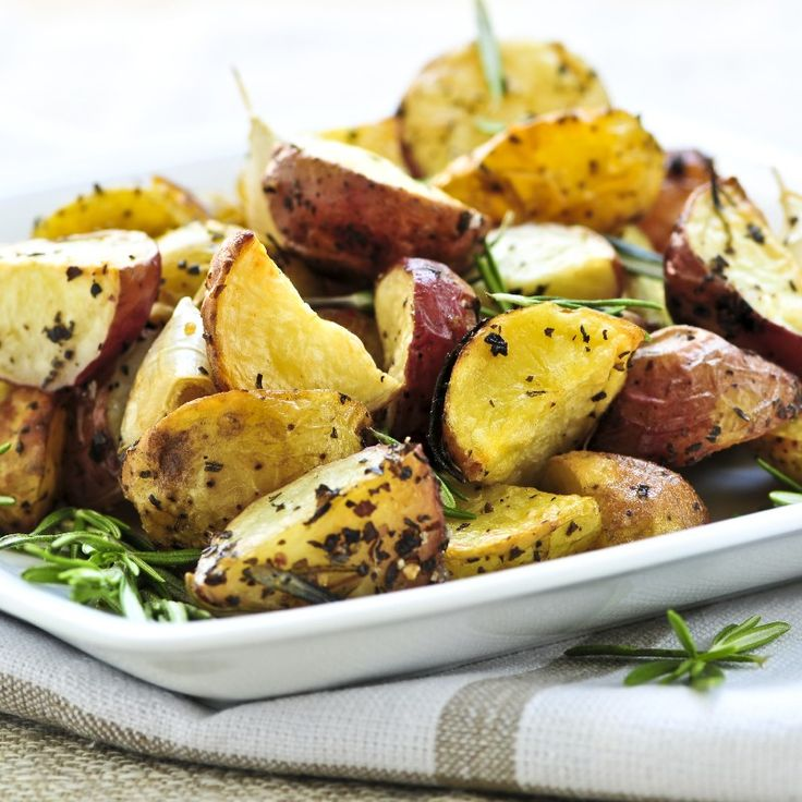Potatoes Roasted with Parmesan and Thyme Side Dish #Recipe