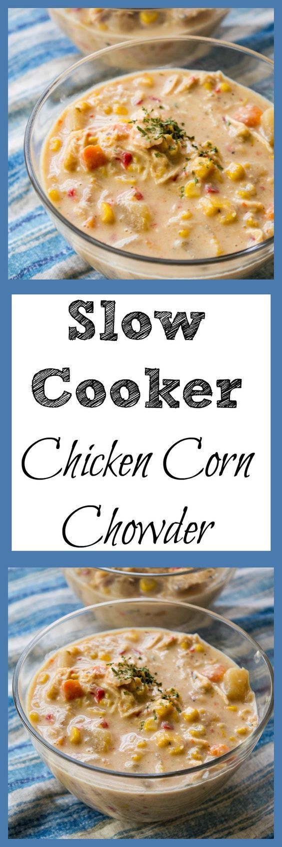 Looking for a chicken corn chowder recipe? This slow cooker soup is a copy cat recipe of WAWAs chicken corn chowder and it is soup heaven. via @debitalks