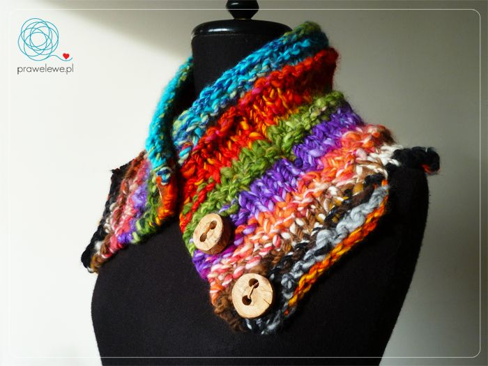 Seven Rainbows Cowl by Cathliin - pattern {www.prawelewe.pl}