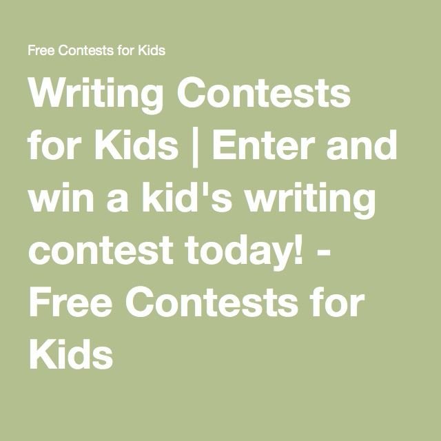 free writing contests for money