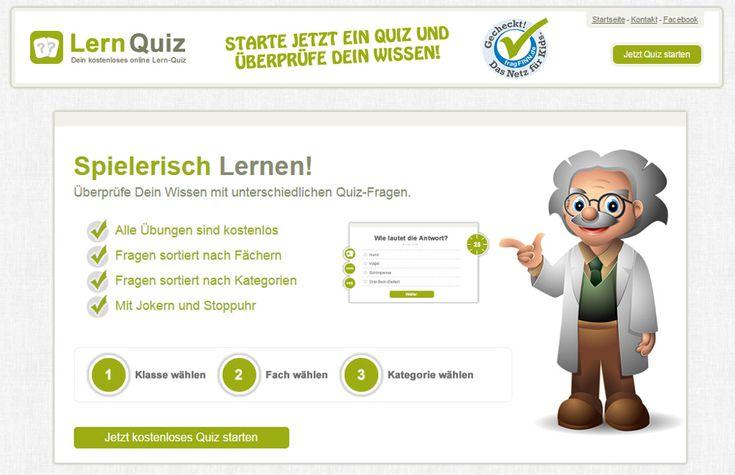 LernQuiz - Quizseiten für Volks-/Grundschule. Ganz einfach und ohne Anmeldung Quizfragen zu den Themenbereichen Deutsch und Sachkunde lösen.