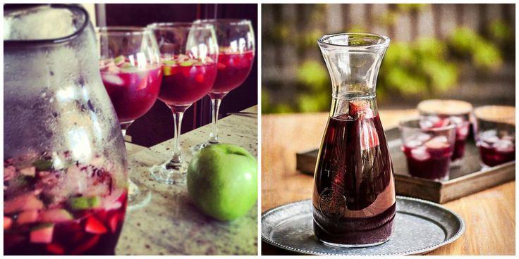 bebidas con vino tinto sangria