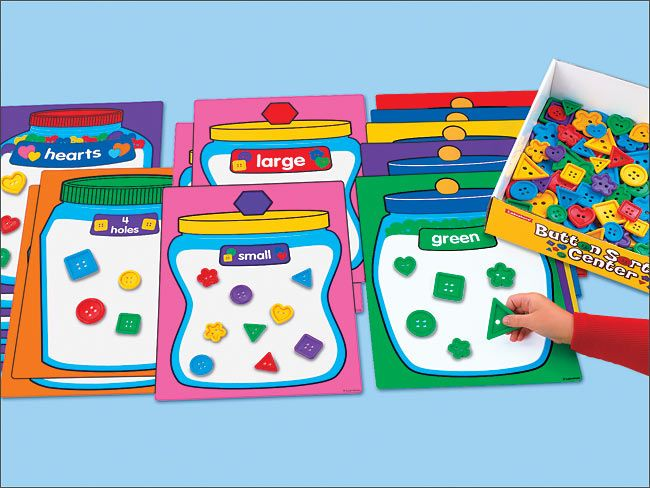 Classroom Designer Lakeshore Learning Materials ~ Button sorting center got it so many activities