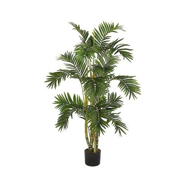Nearly Natural 4' Areca Palm Silk Tree, Green ($87) ❤ liked on Polyvore featuring home, home decor, floral decor, artificial flowers, artificial tree, green, home décor, plants and trees, faux floral and tree pots
