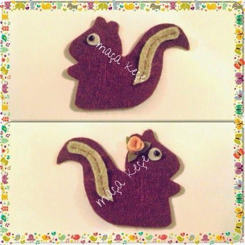 Keçe Sincap Bebek Şekeri / Felt Squirrel