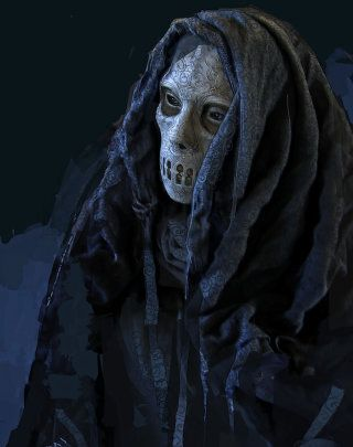 Death Eater in robes
