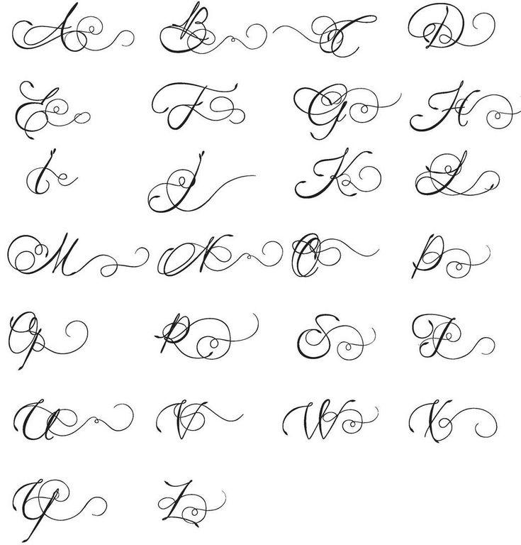 Красивые буквы для подписи открыток