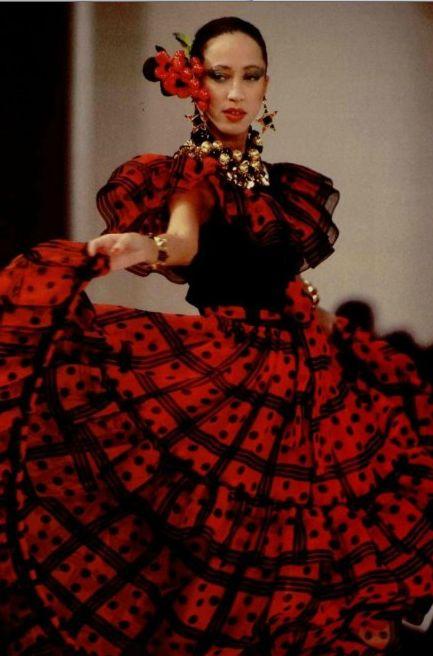YSL Flamenco dress