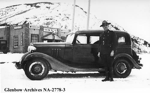 Constable Bonnar, Royal Canadian Mounted Police, Exshaw, Alberta, Date: 1935.Glenbow Archives  File number: NA-2778-3