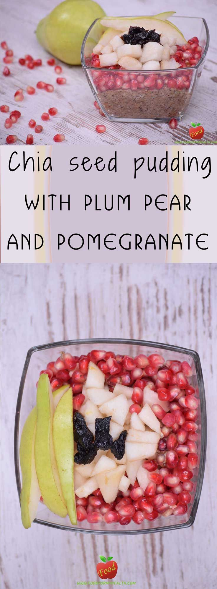 This chia seed pudding with plum pear and pomegranate is packed with plant protein, healthy fats and fiber.  #foodformyhealth #healthy #food #breakfast #vegan #veganfoodshare #instafood #yummy #health #healthyfood #chia #delicious #veganfood #foodie #organic #pastry #nutrition #veganrecipes #plantbased #rawvegan #tasty #recipe #foodpic #veganfood #whatveganseat #govegan #veganism #veganlife #vegansofinstagram #veganfoodporn