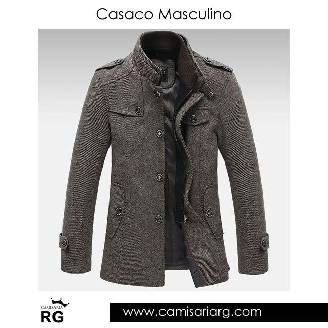 Casaco Masculino. Apenas R$239,00 Mais de 20 modelos em Promoção! www.camisariarg.com/casaco-masculino-casual-1000-08-58-t.html