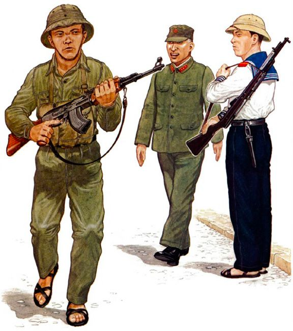 """""""• Enlisted man, North Vietnamese Army, 1975 • Colonel-General, North Vietnamese Army, 1975 • Marine, North Vietnamese Army, 1975"""", Mike Chappell"""