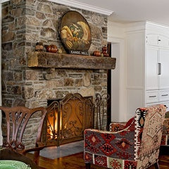 wooden beam mantel