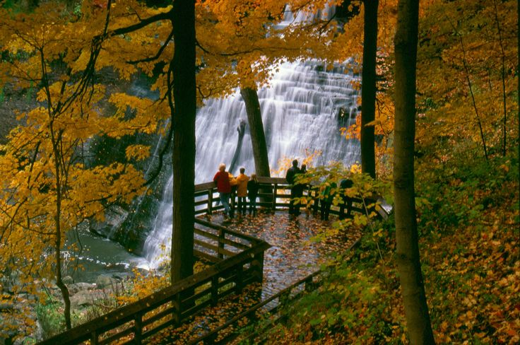 Brandywine Falls in Cuyahoga Valley NP, Ohio