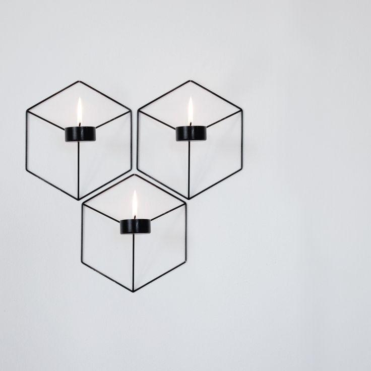 Menu - POV Wand-Teelichthalter, schwarz - Gruppe