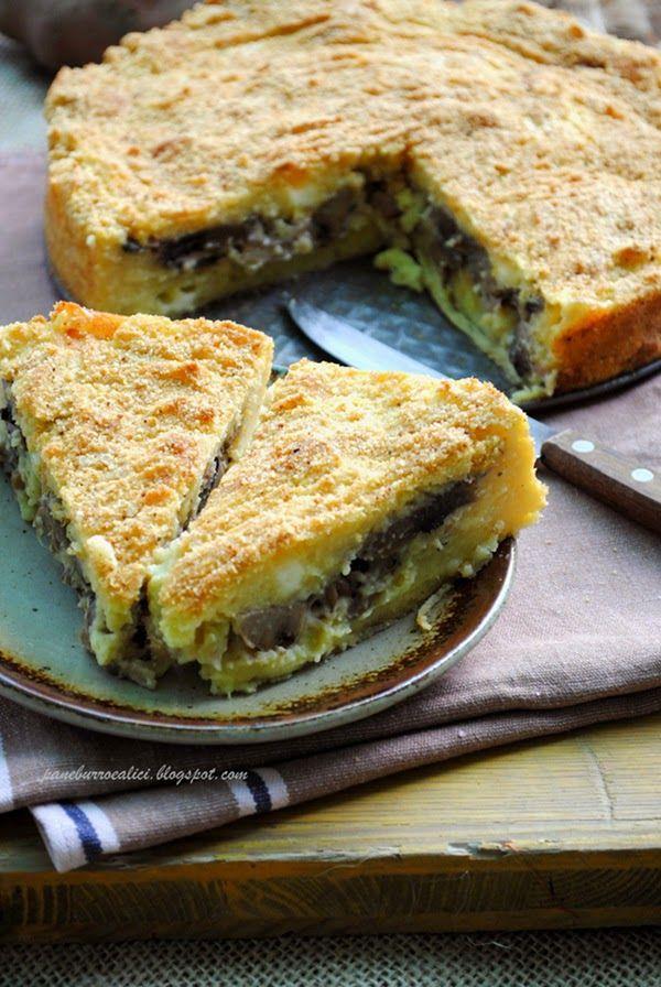 Pane, burro e alici: Torta di patate ai funghi