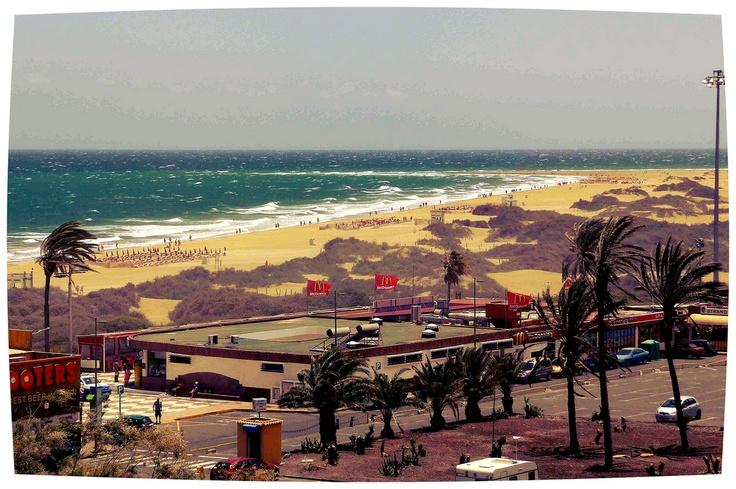 Gran Canaria (Spagna).  McDonald's alla Playa del Inglés.