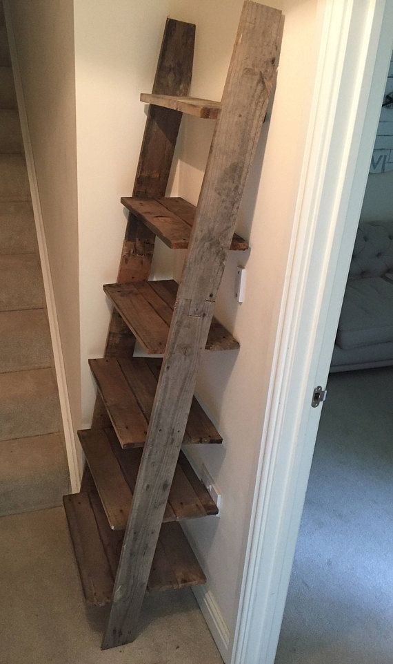 Large Rustic Ladder Shoe Rack Bookcase Made From Reclaimed Wood Shoe Rack Diy Shoe Rack Barn Wood