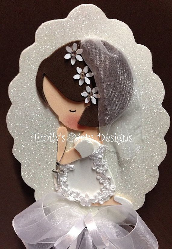 First Communion Centerpiece Christening by designsbyemilys on Etsy