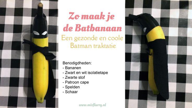 Op zoek naar een gezonde en coole traktatie? Deze Batbanaan is het allebei! #batman #traktatie #gezond #banaan #banana