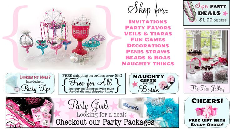 Bachelorette Party Supplies - Gifts, Decorations & more - Bachelorette Superstore ---- oh yea this is going to be fun.