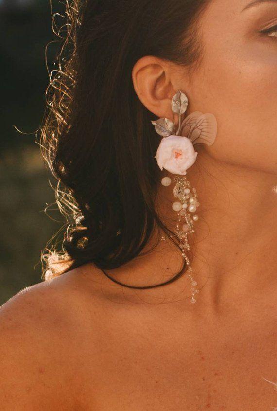 Ohrh/änger Pusteblume Ohrringe rose gold Handmade