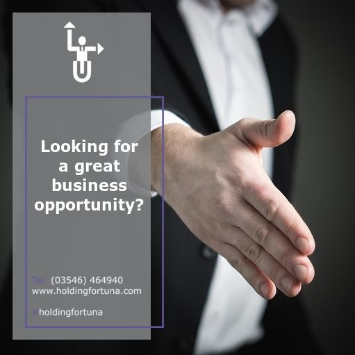 ✔️Looking for a great business opportunity? ✔️In HOLDING FORTUNA we help you! 📧Contact with us: holding@holdingfortuna.com #HoldingFortuna #Cordoba #Argentina #Opportunities #Investments #Management