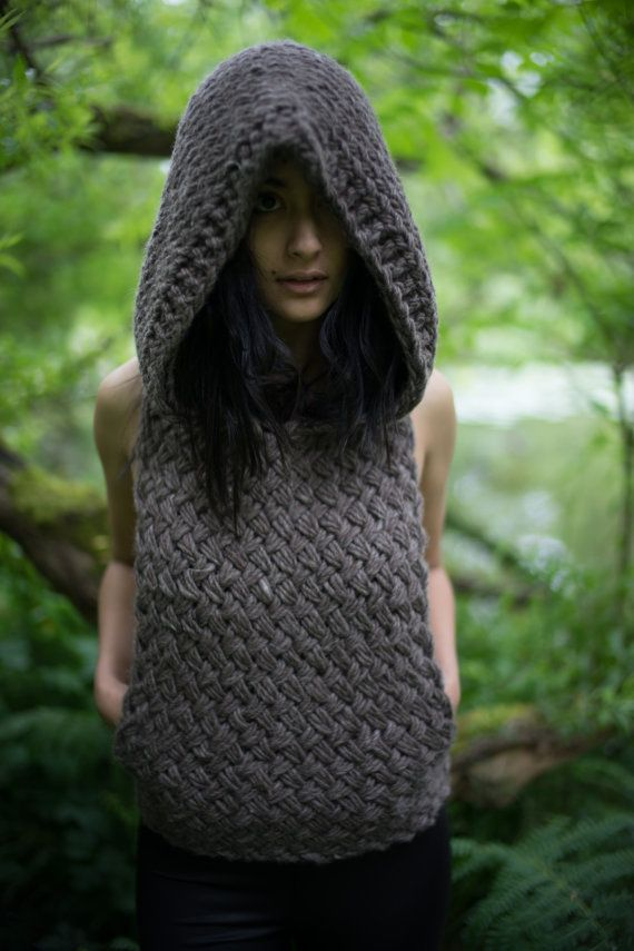 Knitting Pattern Hooded Vest : 1000+ ideas about Knit Vest Pattern on Pinterest Vest ...