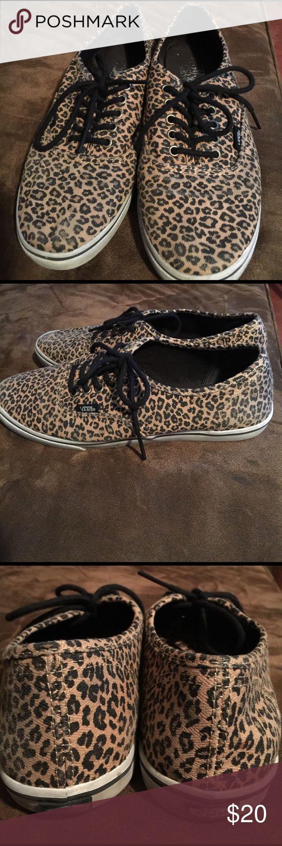 leopard vans no lace