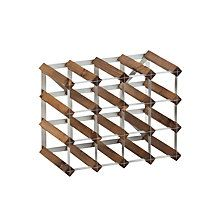 Buy Traditional Wine Rack Co. Red Wood Wine Rack, 16 Bottle, Dark Oak Stain Online at johnlewis.com