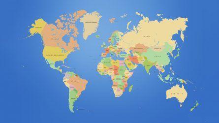 mapa do mundo papel de parede HD